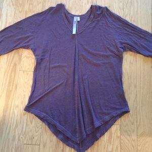Wilt Maroon Linen Tunic